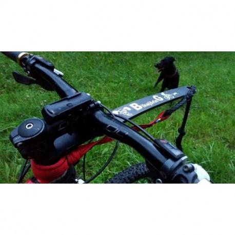 Barre à vélo Acticani et ligne de trait amortie aux normes